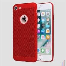 Mikro iphone kılıfları 5 5 S SE 6 6 s artı 7 8 X artı moda kırmızı sert mat nefes soğutma yaz tam kılıf kapak