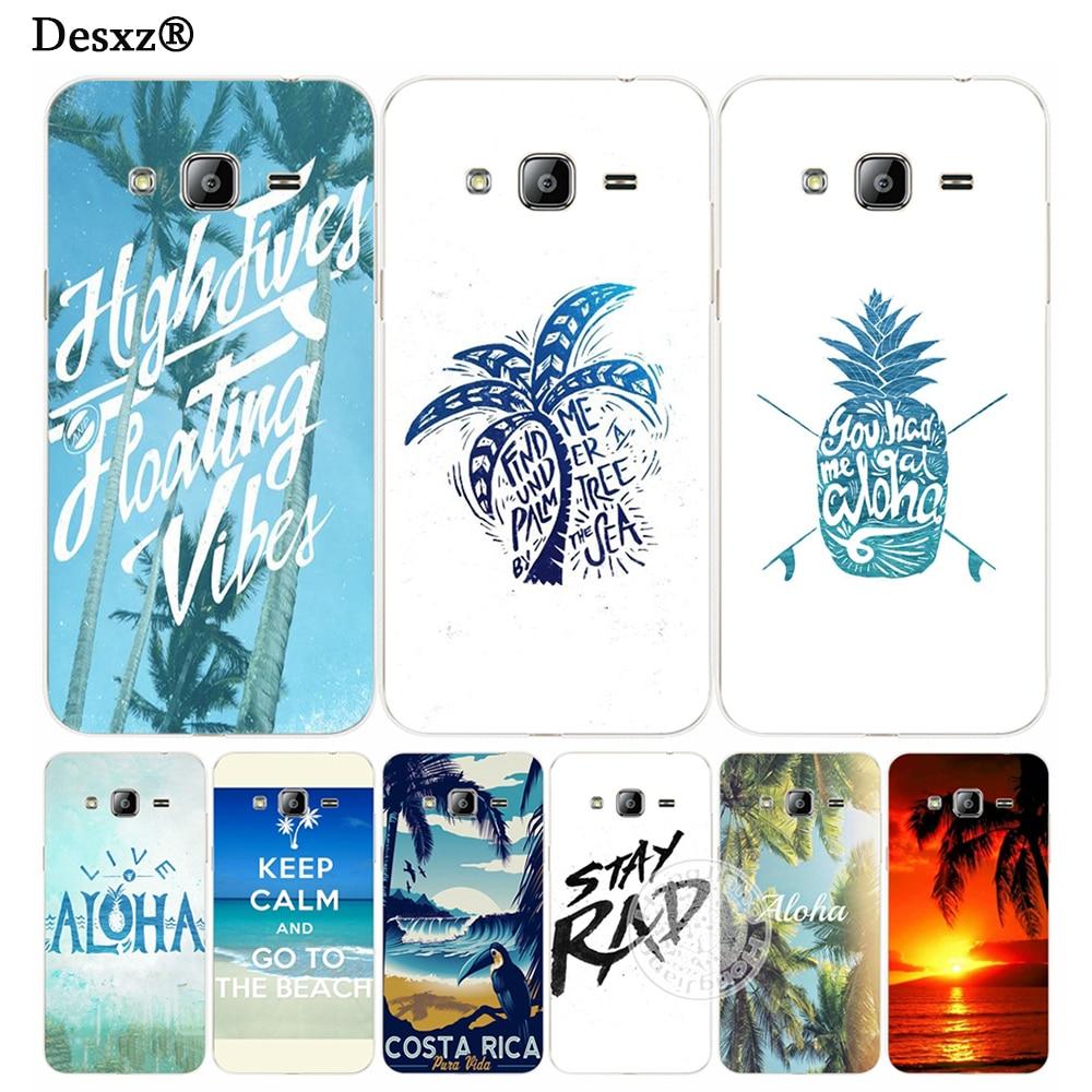 Desxz Aloha <font><b>Hawaii</b></font> дерево крышка телефона чехол для Samsung Galaxy J1 J2 J3 J5 J7 мини Ace 2017 2016 2015