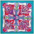 130 Женщин Площади Шарф Модно Twill Шелковые Платки Bufanda Контраст Геометрическая Высокое Качество
