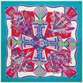 130 Para Mujer Pañuelos de Seda Twill Bufanda Cuadrada De Moda Contraste Geométrica Bufanda de Alta Calidad