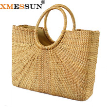 82b34eb4f044 Beach Bag Square Straw Totes Basket Bucket Bag Large Big Summer Bags Women  Handbag Braided 2018