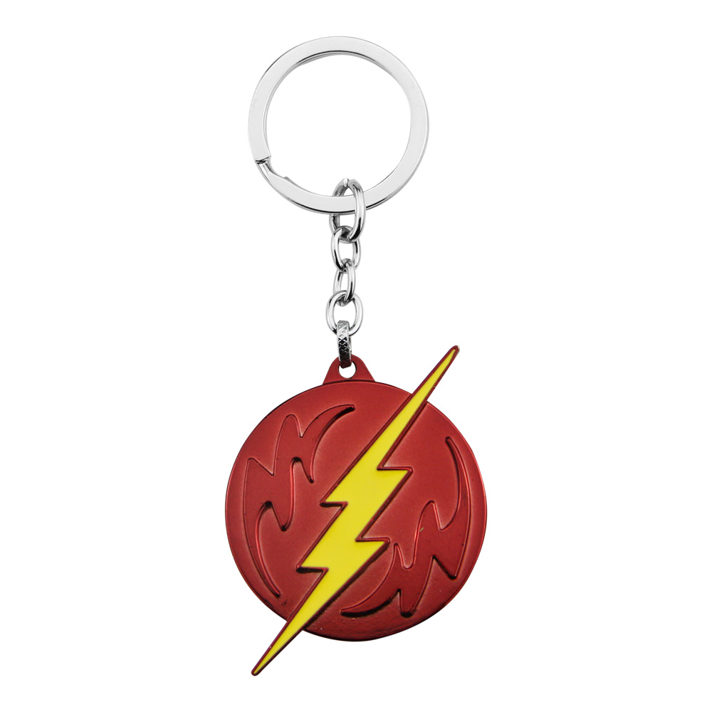 2016 DC Comics The Flash Logo Lightning Keychain Metal Keychain Movie Trinket Superman key chain Ring Holder For Car Souvenirs