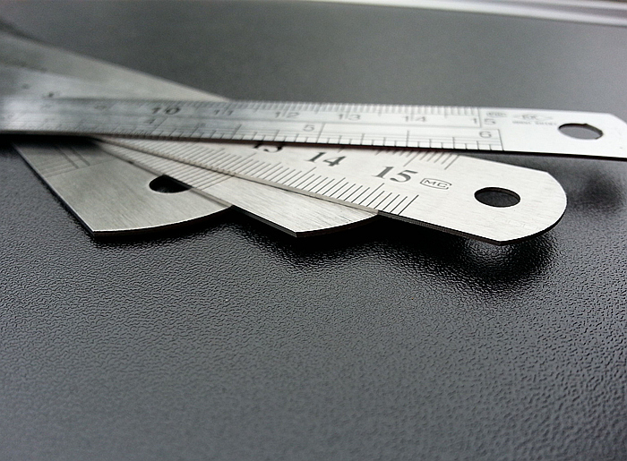 Sewing Foot Sewing 15-30cm Stainless Steel Metal Straight Ruler  Ruler Tool Precision Double Sided Measuring Tool