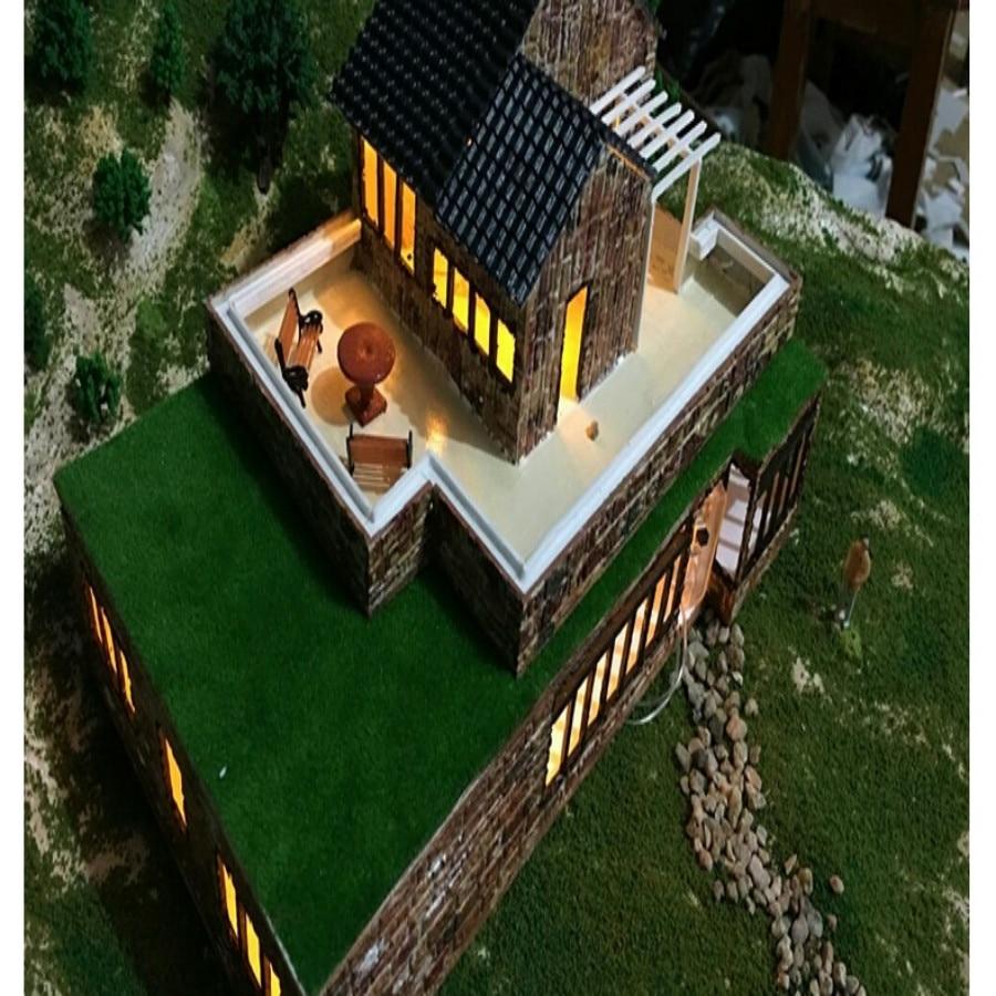 led model light in architecture model building  (6)