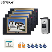 8 Inch Video Door Phone Doorbell Intercom System Access Control System With 5RFID 1EXIT BUTTO Video