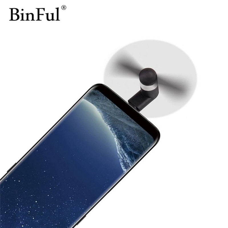 BinFul Mini Portable Mobile Phone USB Type c Fan  USB-C Gadget Tester For Android LG Huawei Type-c phone gadget