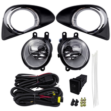 For Toyota Yaris Hatchback 2012 Vitz 2013-2014 Fog Light Kits Halogen Lamp 4300K 12V 55W Working Plating Cover Replacement