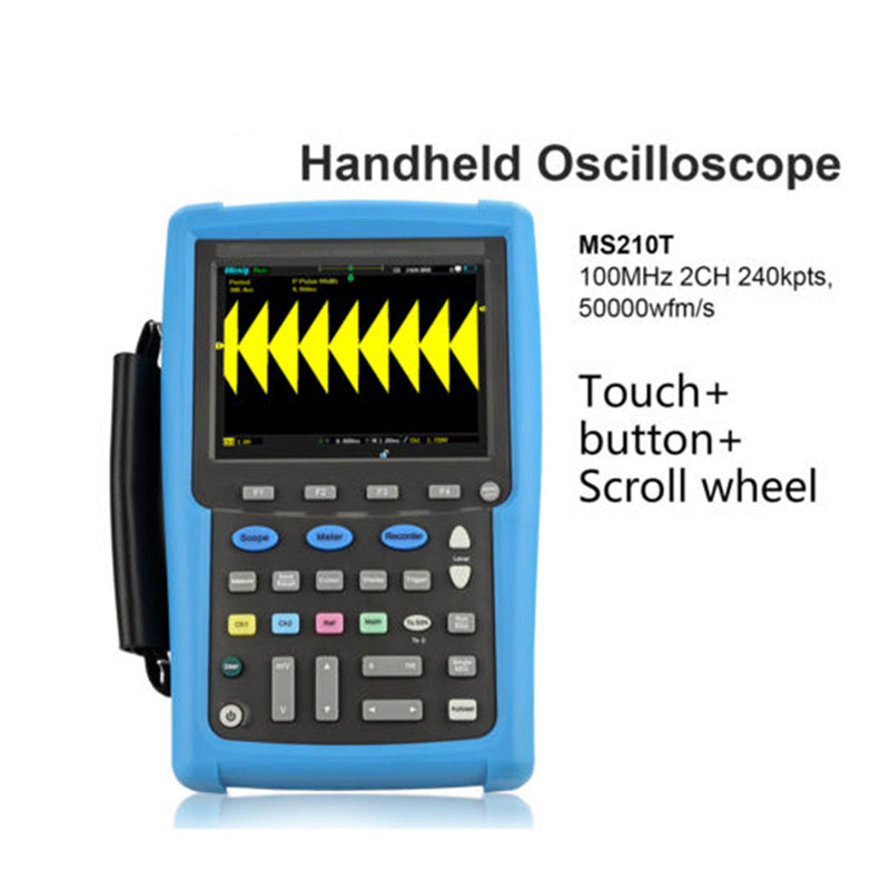 Micsig MS200 цифровой Ручной осциллограф 100 мГц 2 каналов портативный мультиметр автомобильные виртуальный MS210T 207 т MS215T MS220T