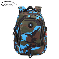 Top Brand Orthopedic Camouflage Children School Bags Backpack Mochila For Teenagers Kids Boys Girls Laptop Bag