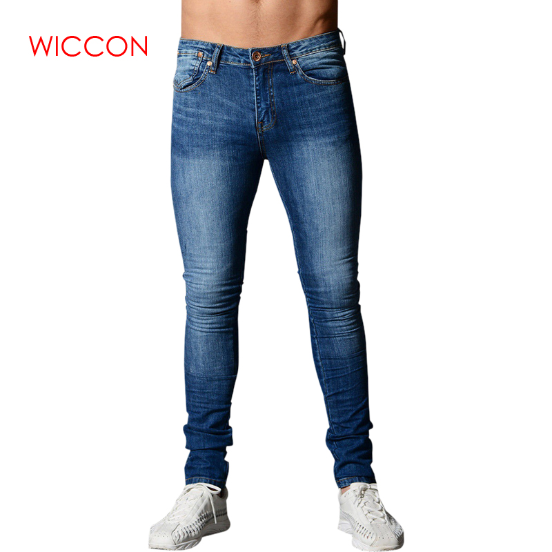 2019 Spring Skinny Jeans For Men Blue Hip Hop Long Stretch Jeans Hombre Slim Fit Fashion Ankle Tight Streetwear Male Pants