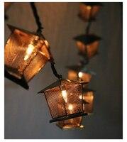3M Village Retro House Lanterns LED String Lights Outdoor Garland Gerlyand For Party Wedding
