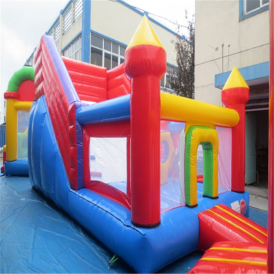 commercial inflatable font b bouncers b font slide with CE UL blower YLW 178
