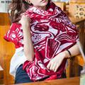 Mulheres Lenço de Algodão Cobertor Manto Poncho Cabo Envoltório Poncho Xale Impressão eólica Nacional Cachecol Roubou Roupas de Comércio Por Grosso