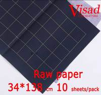 blue Chiese xuan paper,VISAD 34*138cm raw rice paper writing drawing paper