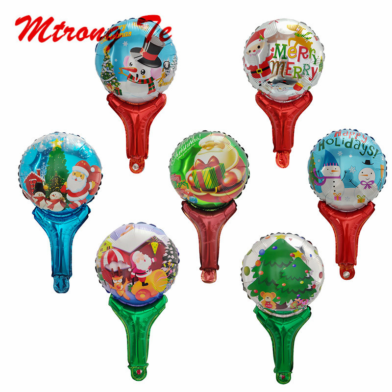 50/100/150pcs Merry Christmas Hand Hold Stick Foil