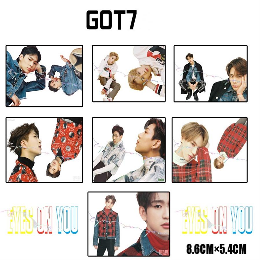 K-pop Got7 Eyes On You Album Transparent Card Jackson Mark Jb Plastic Photocard Poster 7pcs Agreeable Sweetness Jewelry Findings & Components