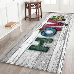 Image 3 - Alfombra de baño con estampado marino de 60x180 CM, felpudo antideslizante para pasillo, tapete de cocina con agua absorbente