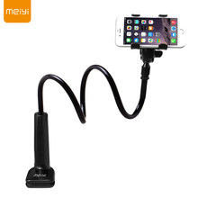 MEIYI 360 Degree Flexible Arm Mobile Phone Holder Stand For Iphone 6s 6 plus for Samsung S6 S5 under 6'' phones Black(China)