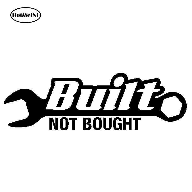 Hotmeini 20,4x6,4 см построен не купил V2 автомобиля Стикеры наклейка JDM гонки Дрифт Hoonigan Stance illest Turbo черный/Щепка