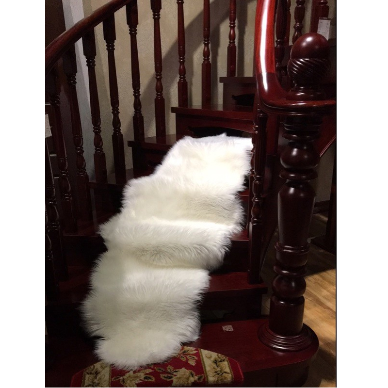 Soft Long Faux Fur Shaggy Fluffy Chair Seat Cushion Sofa