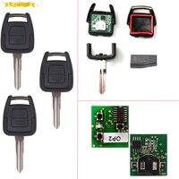 Keyecu 2 llave alejada del botón + nuevo remoto y transponder ID40 para Vauxhall Opel Astra Vectra Zafira 433.92 MHz