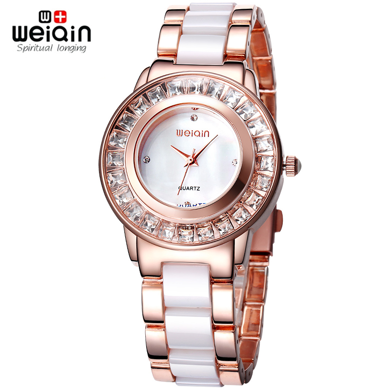 weiqin rhinestone gold wrist luxury top