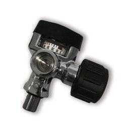 AC921 воздушный клапан 300bar 4500psi SCBA, цилиндрический pcp с манометром, резьба M18 * 1,5, Прямая поставка