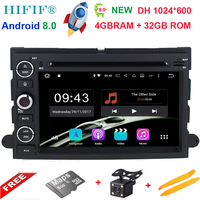 1024*600 Octa Core Android 8.0 Car DVD For Ford Fusion Explorer 500 F150 F250 F350 Edge Expedition Mustang Radio GPS Navigation