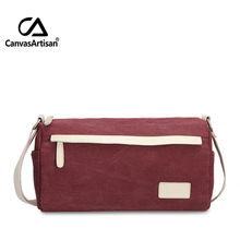 Canvasartisan fashion solid wine red crossbody bags women handbags ladies famous brands pillow leisure messenger bag