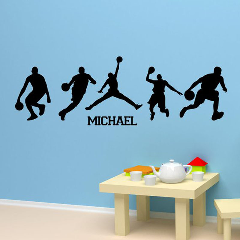 Home & Garden Qualified Two Person Game Sports Wall Art Stickers Basketball Fans Bedroom Decor Mural Decal Vinyl Waterproof Wall Sticker Sports Za227 Home Decor