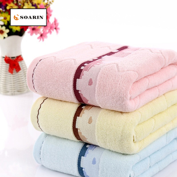 SOARIN Solid Jacquard Landscape House Pattern Bath Towels For Adults Toallas Algodon Strandlakens Voor Volwassenen High Quality