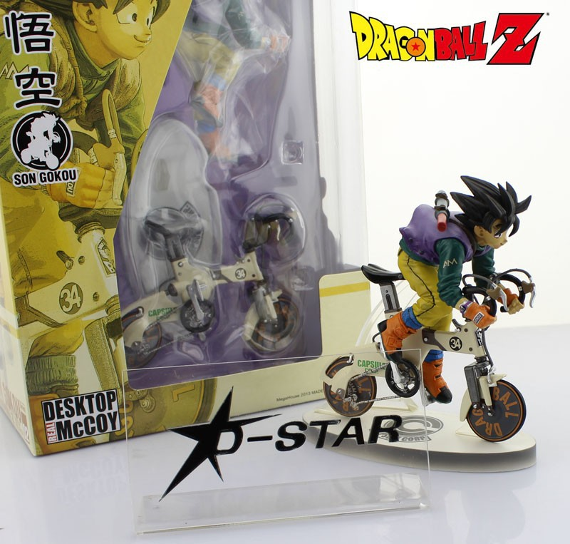 EMS Shipping 6pcs Cool 9 Dragon Ball Z GOKU Son Gokou Riding Bike Version Boxed PVC Action Figure Model Collection Toy Gift shfiguarts dragon ball z son gokou goku kaiohken ver pvc action figure collectible model toy 16cm kt4229