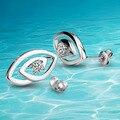 925 чистое серебро серьги сплошной серебро леди в серьги