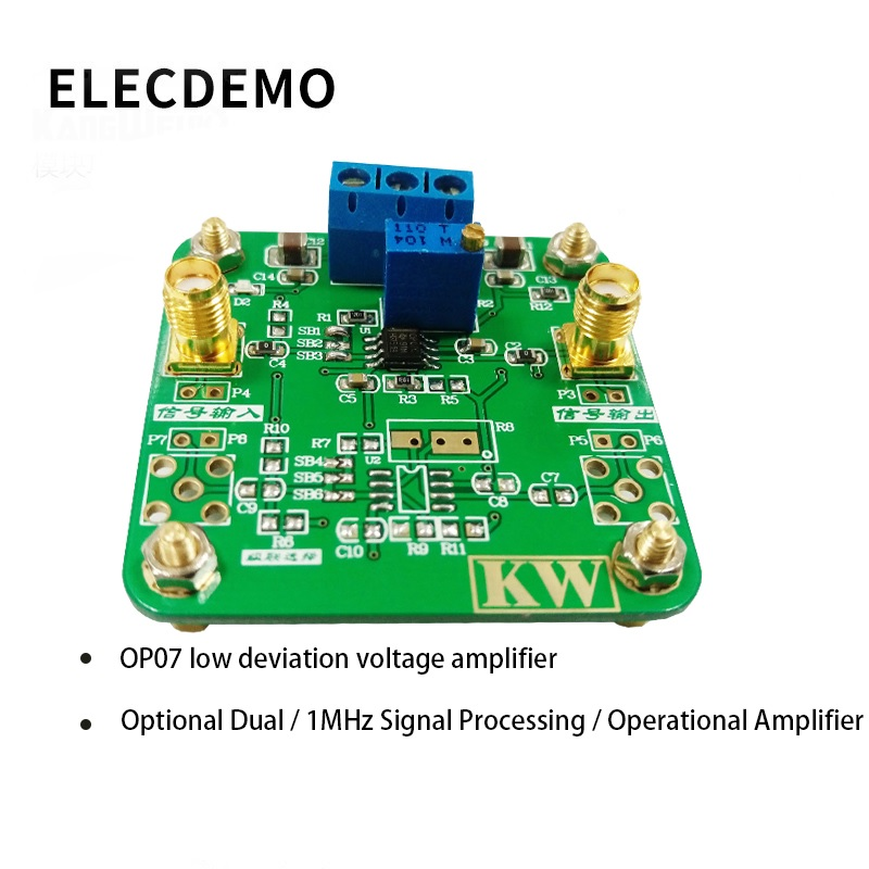 OP07 Module Low Offset Voltage Amplifier Signal Processing within 1MHz Operational Amplifier Function demo Board-in Demo Board Accessories from Computer & Office