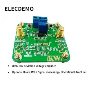 Image 2 - Op07 módulo de processamento de sinal amplificador de baixa tensão deslocada dentro de 1 mhz função amplificador operacional placa demonstração