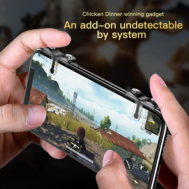 Baseus For PUBG Mobile Gamepad Joystick L1R1 Mobile Phone Game Shooter Controller Trigger Fire Button Handle for iPhone Android