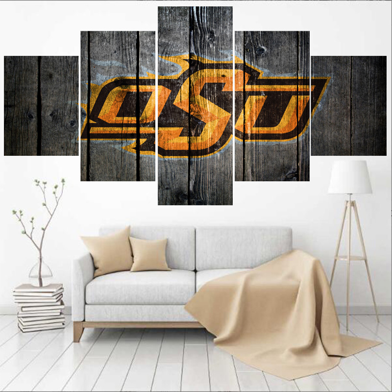 US $6.0 25% OFF|Oklahoma State University Sport Team Paintings Modern Home  Decor Living Room Bedroom Wall Art Canvas Print Painting Calligraphy-in ...