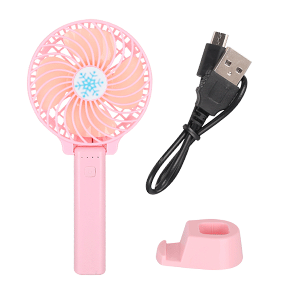 Folding Handheld Mini Fan Summer Air Cooler Fans USB Charge Rechargeable Portable Office Travel Desk Fan Adjustable 3 Wind Speed