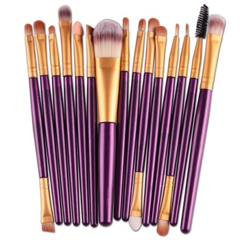 15pcs Portable Facial Makeup  Brushes Tool Makeup Brushes Set Professional Foundation Powder Eyeshadow Eye Lip Face Eye Shadow Applicator