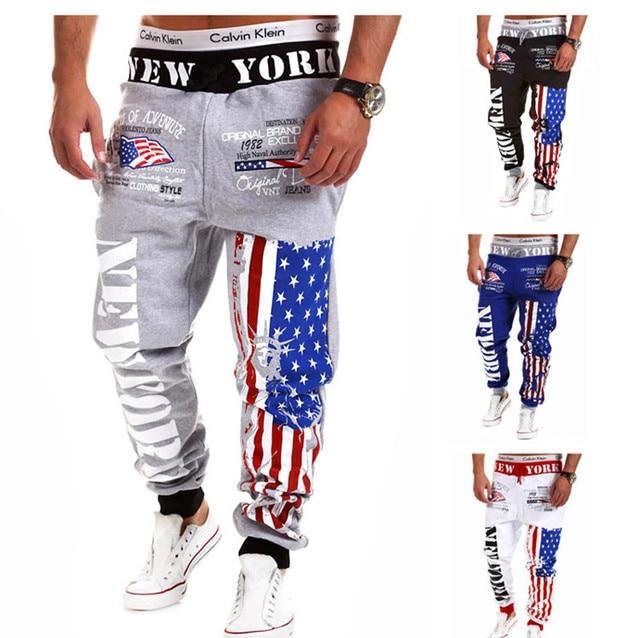 La moda de Nueva 2016 Hombres de Hip Hop Casual Pantalones Hombres Marca  Baggy Danza 5834fcf14f2