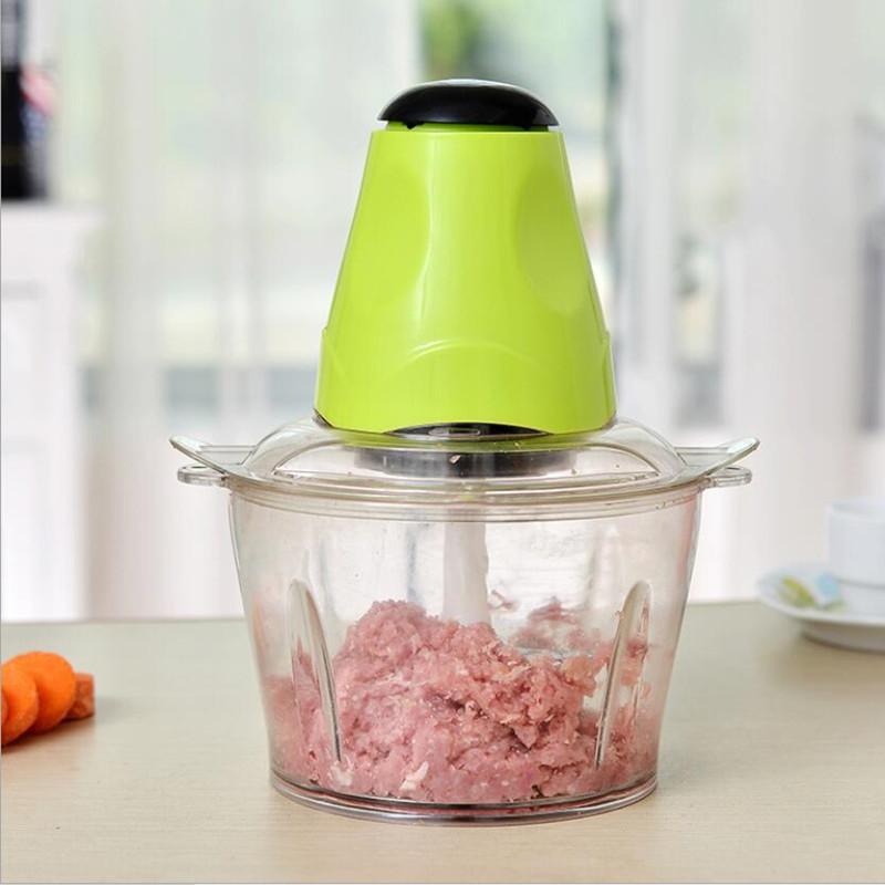 Automatic 2L Electric Kitchen Meat Grinder Chopper Shredder Food Chopper household 2l electric kitchen chopper shredder food chopper meat grinder stainless steel electric processor kitchen tool cocina