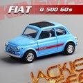 Caliente venta 1 unid 1:36 12.5 cm delicada KINSMART FIAT 500 azul fuerza de jalar de aleación modelo de simulación coche decoración del hogar regalo juguete