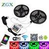 Wifi Controller 5050 RGB LED Strip Light Lamp 5M 10M 15M Waterproof Decor Flexible Tape Diode