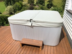 hot tub spa white gray color cover skin Vinyl only size 2150x2150mm ,can do any other size as request