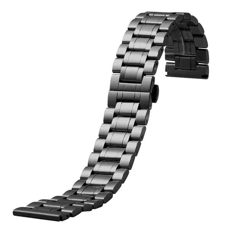 Correas de reloj de 24 mm Correa de reloj de acero inoxidable negro - Accesorios para relojes - foto 1
