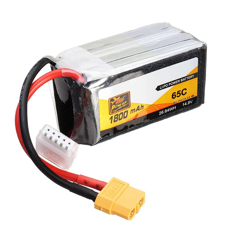 High Quality Rechargeable Lipo Battery ZOP Power 14.8V 1800mAh 65C 4S Lipo Battery XT60 Plug For RC Model high quality zop power 11 1v 1500mah 25c lipo battery t plug