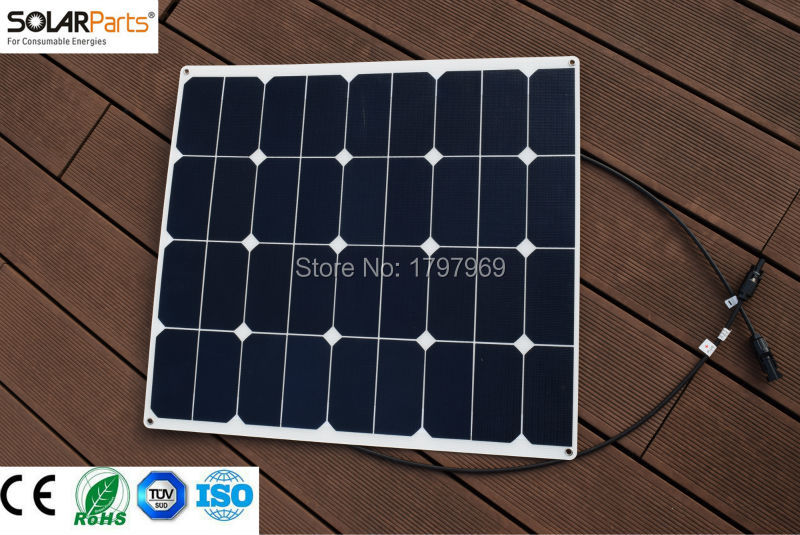 Solarparts 1PCS 60W ETFE film flexible solar panel 12V solar panel solar cell yacht boat RV solar module for car/RV/boat battery 200w 2x100w mono flexible solar panel solar module energy roof camper rv yacht solar generators
