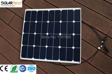 Solarparts 1PCS 60W ETFE film flexible solar panel 12V solar panel solar cell yacht boat RV