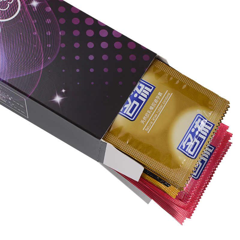 Mingliu Campuran 32 Pcs 5 Jenis Seksi Lateks Titik Senang Hati Nautural Karet Penis Kondom untuk Pria Seks Erotis Kontrasepsi Pria kondom