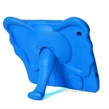Niños Niño Cubierta a prueba de golpes Para el ipad 2/3/4 2017 Nuevo 3D nariz de Elefante lindo del caso del soporte Para Apple ipad 3 funda de Silicona de Dibujos Animados
